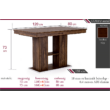 Corfu asztal 120 x 80 cm