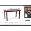 Dante asztal 160 x 90 cm