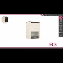 B3 felső vitrines elem