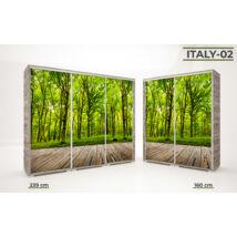 Italy Style tolóajtós gardrób, 160 cm