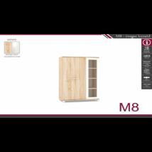 M-8 üveges komód