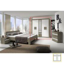 5 ajtós szekrény tükörrel, trufla sonoma tölgyfa + fehér,    MEDIOLAN