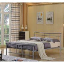 Fém ágy lécezett ráccsal, ezüst fém 160 x200, DORADO