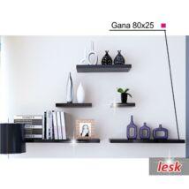 Polcok, fekete/fényesség, 80x25, GANA