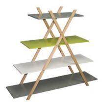 JENSEN REGAL MDF kombinílva bambuszfávalAz eredeti színkombináció    bambusz, fehér,zöld és szürke polcok bambusz kivitelben