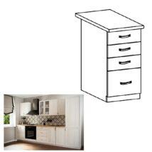 SICILIA D40S4 konyha szekrény fiókkal