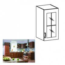 Felső szekrény üveggel jobbos, dió Milano, SICILIA G30S