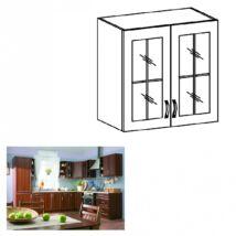 Felső szekrény üveggel, dió Milano, SICILIA G80S