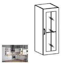 PROVANCE W40S felső szekrény üveges ajtóval, fenyő ANDERSEN/fehér