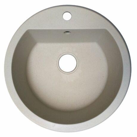 Kör-egyymedencés beépíthető gránit mosogatótálca