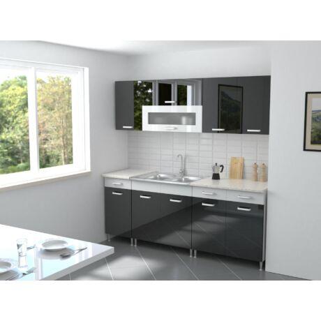 Magasényű fekete / Magasfényű fehér (200 cm-es illusztráció!)