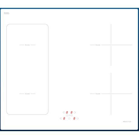 EVIDO VETRO 60 beépíthető indukciós főzőlap-fehér