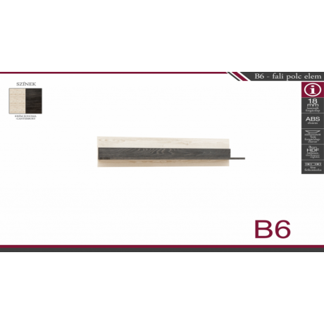 B6 fali polc elem