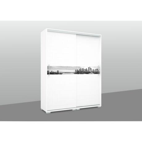 City gardrób 160 cm grafikával