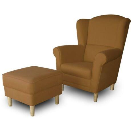 Fotel + puff,barna, ASTRID