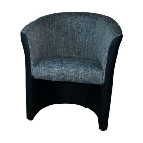 Fotel, textilbőr fekete/šenil szürke, CUBA