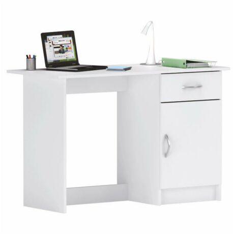 Számítógépasztal, fehér, SIRISS