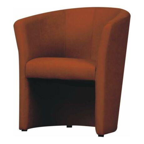 Fotel, textilbőr barna, CUBA