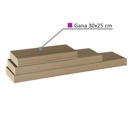 Polcok, homok tölgyfa, 30x25, GANA