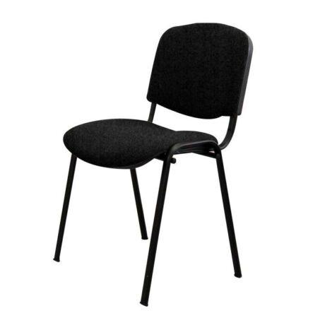 Egymásra rakható szék, fekete, ISO NEW