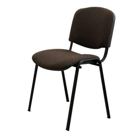 Egymásra rakható szék, barna, ISO NEW