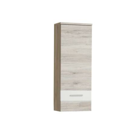 Fali szekrény, homok tölgyfa/fehér, VALERIA