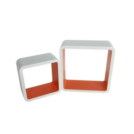 Polckészlet, fehér - narancssárga, FIDO