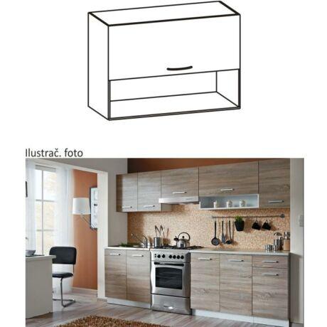 Felső szekrény, sonoma tölgyfa/fehér, CYRA NEW G 80/57