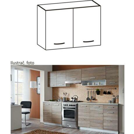 Felső szekrény, sonoma tölgyfa/fehér, CYRA NEW G 60