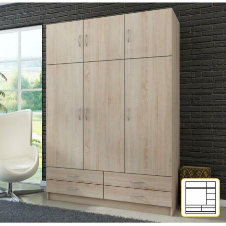 Kombinált szekrény,sonoma tölgyfa, GERI