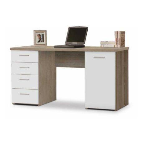 Számítógépasztal, sonoma tölgyfa/fehér, EUSTACH
