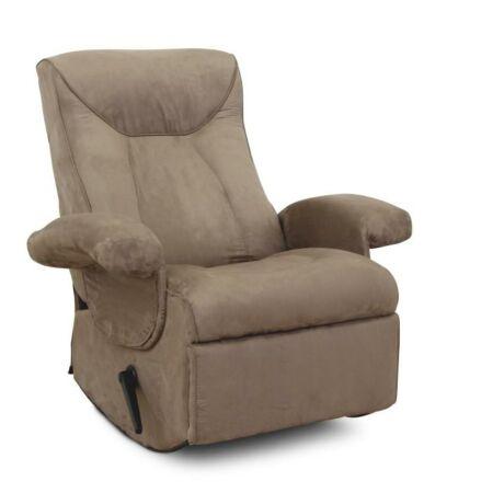 Mechanikusan állítható pihenő fotel, szürke textil, SUAREZ