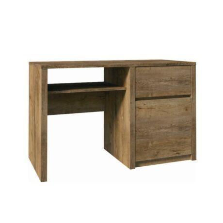 PC asztal fiókkal, 1-ajtóval, lefkas tölgyfa, MONTANA B1