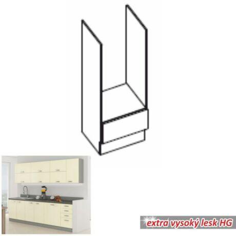 Alsó szekrény, krémszínű magas fényű fehér, PRADO 60 DG BB