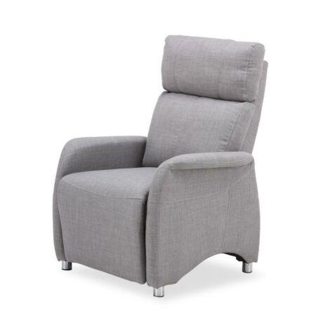 Állítható TV fotel, szövet szürke, FOREST