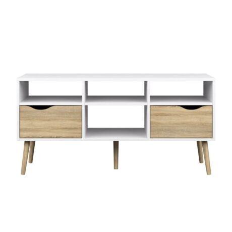TV asztal/szekrény, sonoma tölgyfa/fehér, OSLO 75391