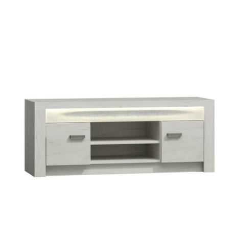 TV asztal /szekrény, fehér kőris, INFINITY 09
