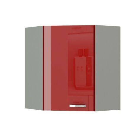 Felső szekrény, piros magas fényű, PRADO 60/60 N G-72