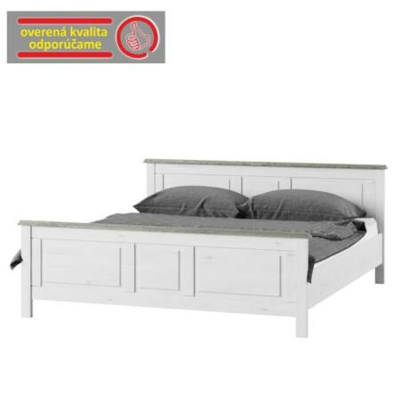 Ágy 180x200 cm, fehér, LIONA