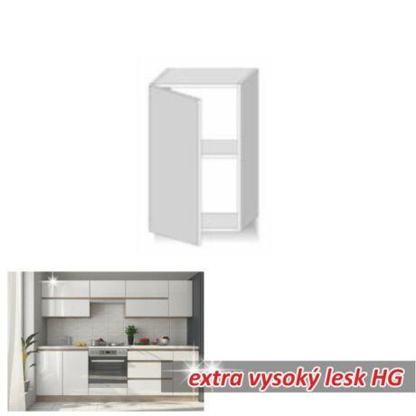 Felső szekrény 1ajtós,extra magas fényű fehér, LINE WHITE