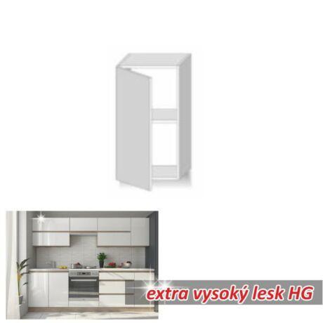 Felső szekrény 1ajtós, magas fényű fehér, LINE WHITE