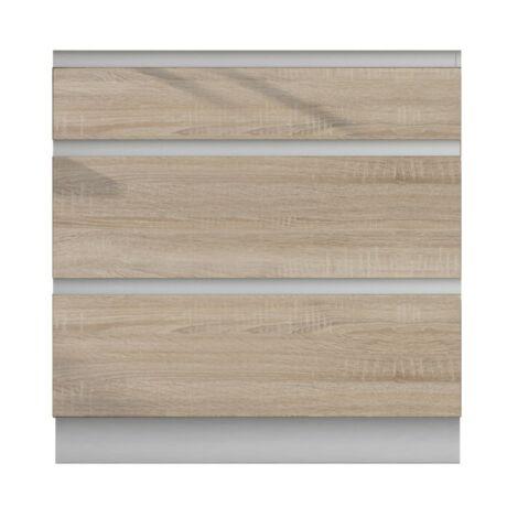 Alsó szekrény 3fiókos, sonoma tölgyfa, LINE