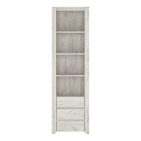 Polcos szekrény 3S, fehér/craft, ANGEL