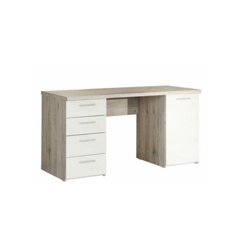 PC asztal,homok tölgyfa/fehér, VALERIA
