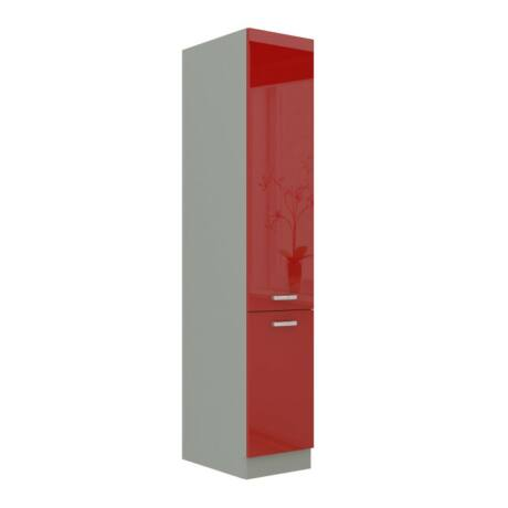 Alsó szekrény magas, piros magas fényű, PRADO 40 DK-210 2F