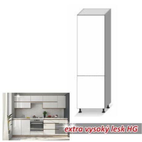 Alsó szekrény magas, magas fényű fehér, LINE WHITE