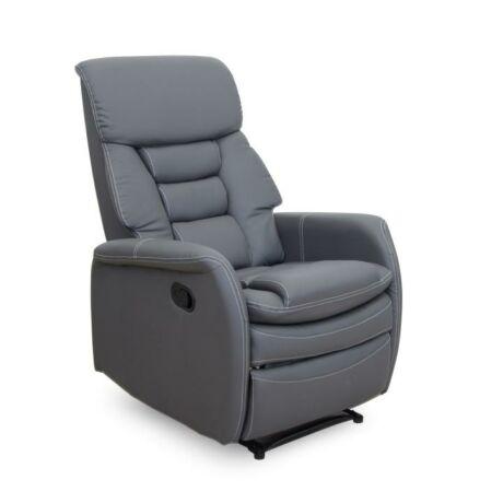 Pihenő fotel, textilbőr, KOMFY