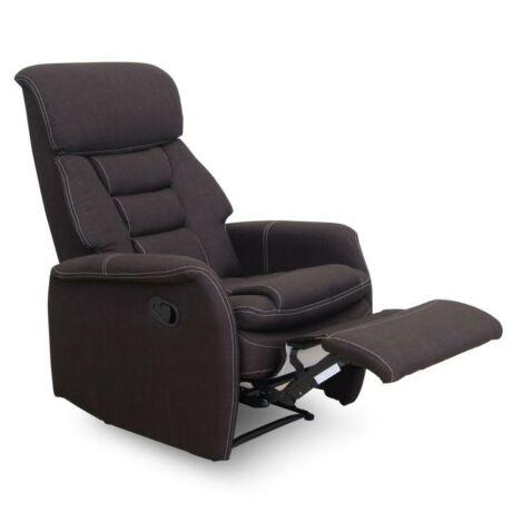 Pihenő fotel, szövet, csokoládébarna, KOMFY