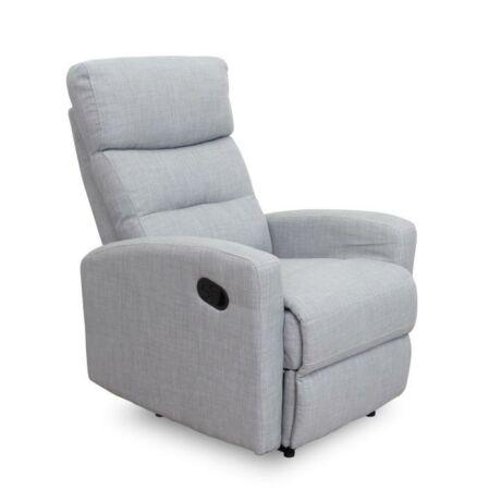 Pihenő fotel, szövet, világosszürke, SILAS