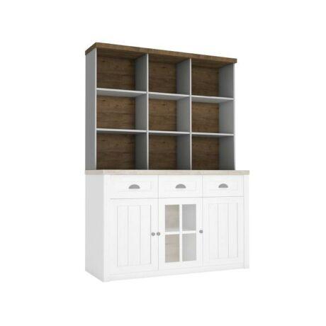 Polcos szekrény, DTD laminált, erdei fenyő Andersen + lefkas    tölgyfa, PROVANCE